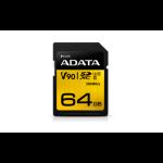 ADATA Premier ONE 64GB SDXC Card, UHS-II Class 10 (U3), V90 Video Speed (8K), R/W 290/260 MB/s