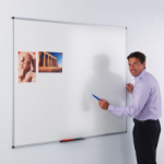 Metroplan Ultra-Smooth magnetic board Steel White