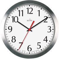 Acctim JAVIK 10IN ALU WALL CLOCK ALUM