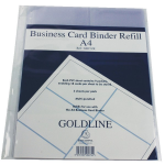 Gold Line Goldline Business Card Binder Refill A4 GBC9/RZ (PK5)