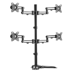 Brateck Quad Monitor Premium Articulating Aluminum Monitor Stand Fit Most 17'-32' Monitors Up to 8kg per scr