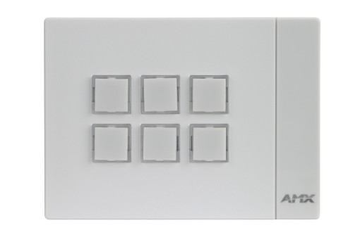 AMX MCP-106 White push-button panel