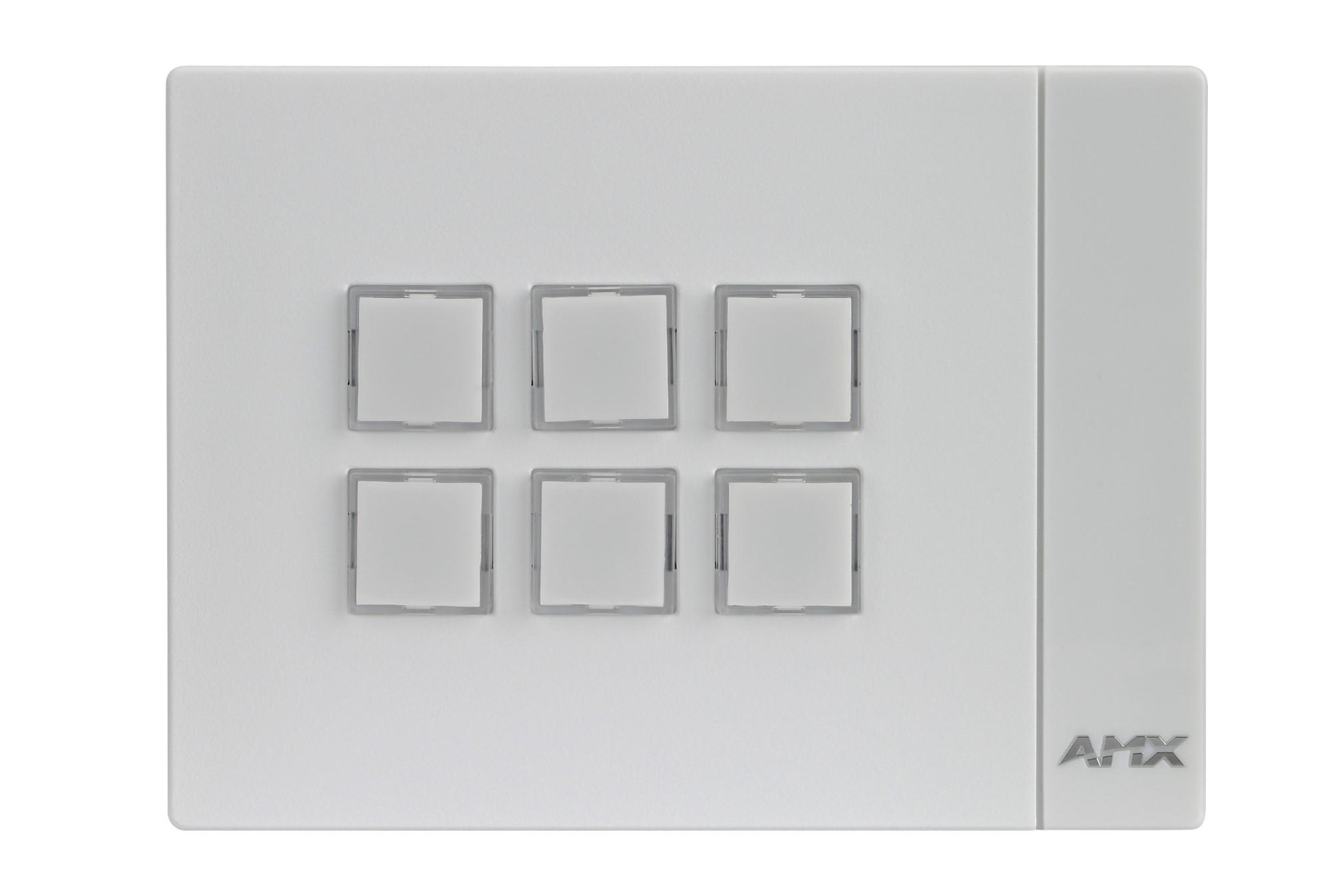 AMX MCP-106 White push-button panel
