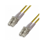 DP Building Systems 9-DX-LC-LC-1-YW fibre optic cable 1 m OS2 Yellow