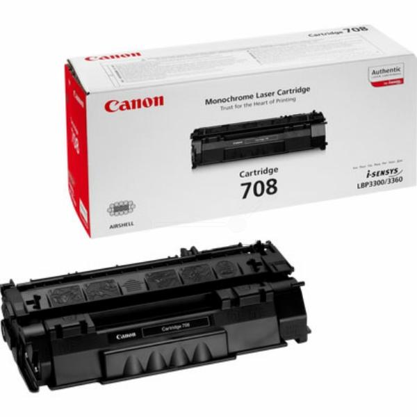 Canon 0266B002 (708) Toner black, 2.5K pages @ 5% coverage
