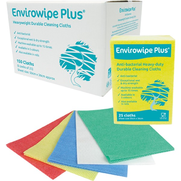 Envirowipe Plus Heavy-Duty Cleaning Cloths (50x36) Grn PK25