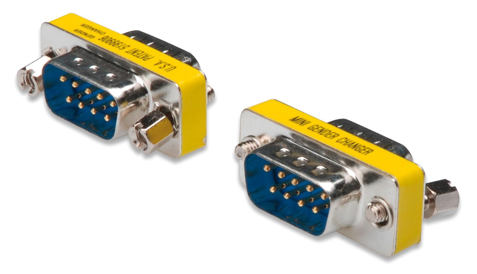 ASSMANN Electronic D-Sub9 M/M D-Sub 9p Plata