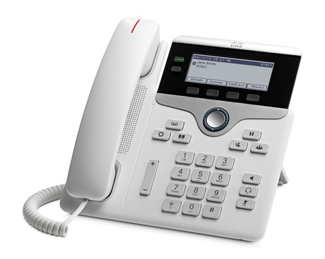 Cisco 7821 IP phone White Wired handset 2 lines