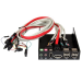 StarTech.com 3.5in Black Multi Port Panel for Front Drive Bay with HD Audio - eSATA / Firewire 400 / USB 2.0