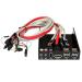 StarTech.com 3.5 inch Black Multi Port Panel for Front Drive Bay with HD Audio eSATA / Firewire 400 / USB 2.0