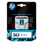 HP 363 Light Cyan Ink Cartridge Original Cian claro 1 pieza(s)