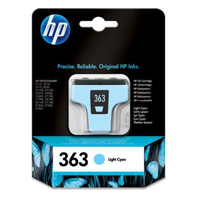 HP 363 Light Cyan Ink Cartridge Original Cian claro 1 pieza(s)