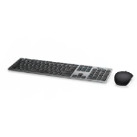 DELL 580-AFQM keyboard RF Wireless + Bluetooth QWERTY UK English Black,Grey