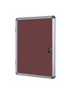 Bi-Office VT630105150 bulletin board Fixed bulletin board Aluminium, Red Aluminium, Felt