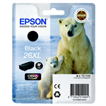 Epson C13T26214012 (26XL) Ink cartridge black, 500 pages, 12ml