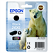 Epson C13T26214010 (26XL) Ink cartridge black, 500 pages, 12ml