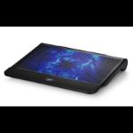 Deepcool N6000 Notebook Cooler Black (Up to 17'), Blue LED, 200mm Fan, Storage Cage, 2x USB