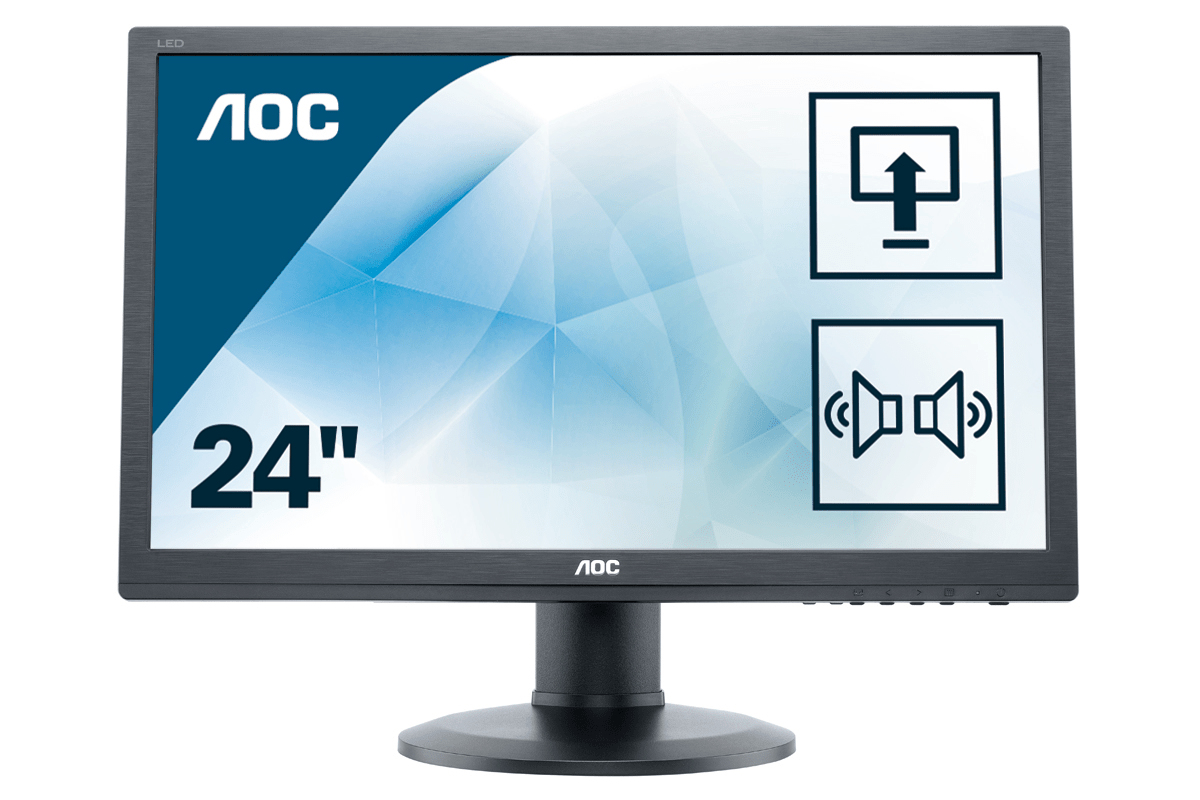 "AOC Pro-line E2460PDA LED display 61 cm (24"") 1920 x 1080 Pixeles Full HD LCD Negro"