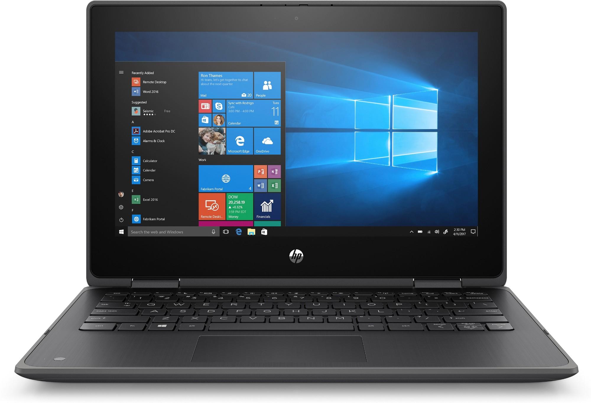 """HP ProBook x360 11 G5 EE Hybrid (2-in-1) 29.5 cm (11.6"""") Touchscreen Intel® Celeron® N 4 GB DDR4-SDRAM 128 GB SSD Wi-Fi 5 (802.11ac) Black"""