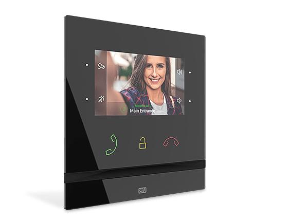 "2N Telecommunications Indoor Compact video intercom system 10.9 cm (4.3"") Black"