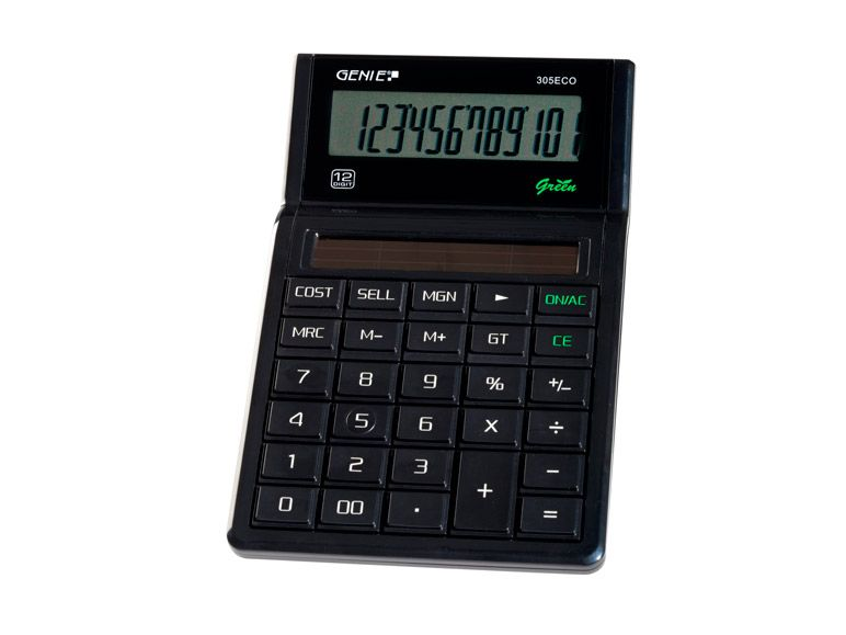 Genie Value Genie 305 ECO Business calculator 100% solar 11763
