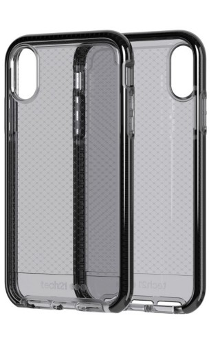 "Tech21 Evo Check mobile phone case 15.5 cm (6.1"") Cover Black,Transparent"