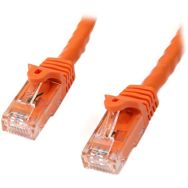 StarTech.com Cat6 Patch Cable with Snagless RJ45 Connectors - 10 m, Orange