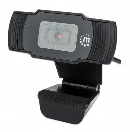 Manhattan USB , Two Megapixels, 1080p Full HD, USB-A, Integrated Microphone, Adjustable Clip Base, 30 frame per second, Black, Box
