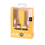 Laser PB-2200P-YEL power bank Yellow 2200 mAh
