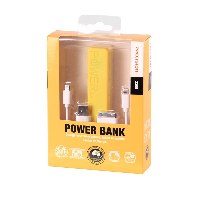Laser PB-2200P-YEL 2200mAh Yellow power bank