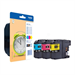 Brother LC-125XLRBWBP Ink cartridge multi pack, 1.2K pages, Pack qty 3