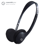 CONNEkT Gear HP503 Basic Stereo PC On-Ear Headset with In-Line Mic and Volume Control - Black