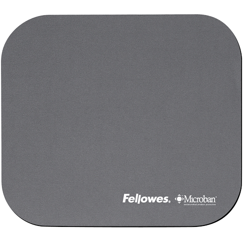 Fellowes Microban Mouse Pad Silver Silver