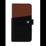 "Tactus OW002 5.5"" Wallet case Black,Tan mobile phone case"