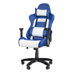 SPEEDLINK Regger Gaming Optimised Chair with 360 Degree Swivel & Lumbar Support, Blue/White (SL-660000-BE)