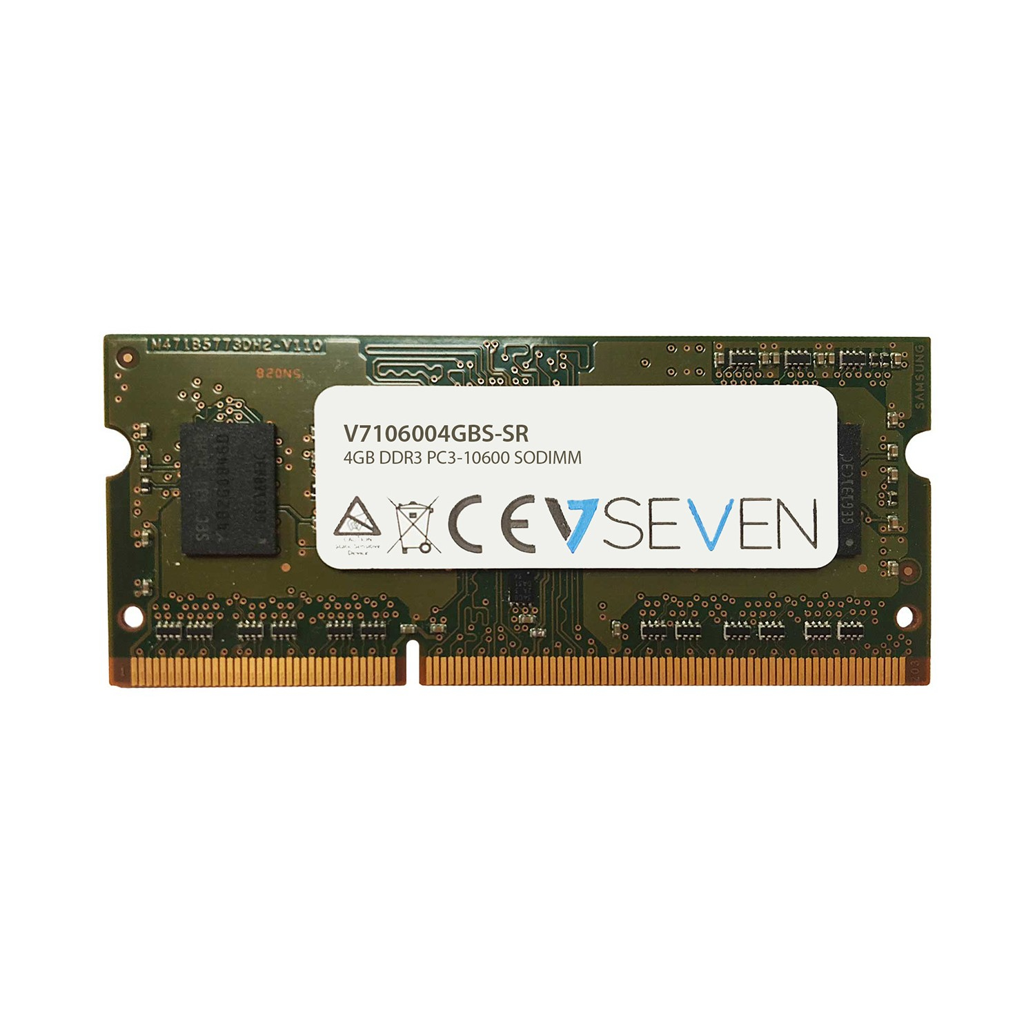 V7 4GB DDR3 PC3-10600 1333MHz SO-DIMM módulo de memoria - V7106004GBS-SR