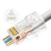 Lanview LVN125306 wire connector RJ45 Transparent