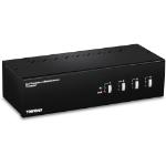 Trendnet TK-440DP KVM switch Black,Silver