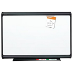 QUARTET PORCELAIN WHITEBOARD PRESTIGE GRAPHITE FRAME 1200 X 915MM