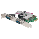 Manhattan PCI Express Card, 2x Serial DB9 ports, 2.5 Mbps, x1 x4 x8 x16 lane buses, Standard/Low Profile PCI, Box