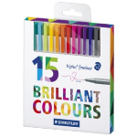 Staedtler triplus 334 fineliner Multicolor 15 pc(s)
