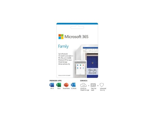 HP Microsoft 365 Family 12 month Client Access License (CAL) 1 license(s) 1 year(s)