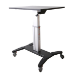 StarTech.com Mobile Sit-Stand Workstation STSCART