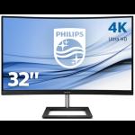 "Philips E Line 328E1CA/00 LED display 80 cm (31.5"") 3840 x 2160 pixels 4K Ultra HD LCD Curved Black"