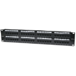 Intellinet Patch Panel, Cat6, UTP, 48-Port, 2U, Black
