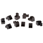 Axis Connector A 2-pin 3.81 Straight 10 pcs wire connector Black