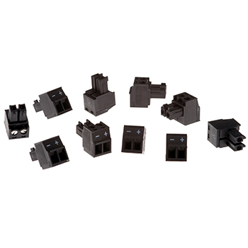 Axis Connector A 2-pin 3.81 Straight 10 pcs conector Negro