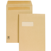 New Guardian Envelopes Heavyweight Pocket Press Seal Window Manilla C4 [Pack 250]
