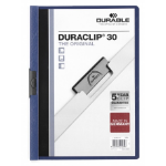 Durable Duraclip 30 report cover Blue, Transparent PVC