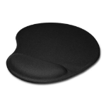 Jedel Mouse Pad with Ergonomic Wrist Rest Black
